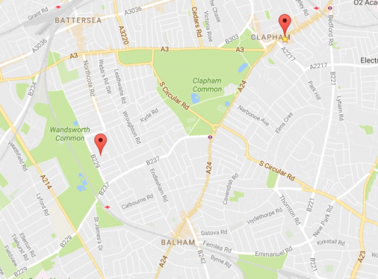 Counselling room locations SW11 and SW4